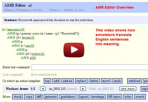 Video Abstract Meaning Representation (AMR)